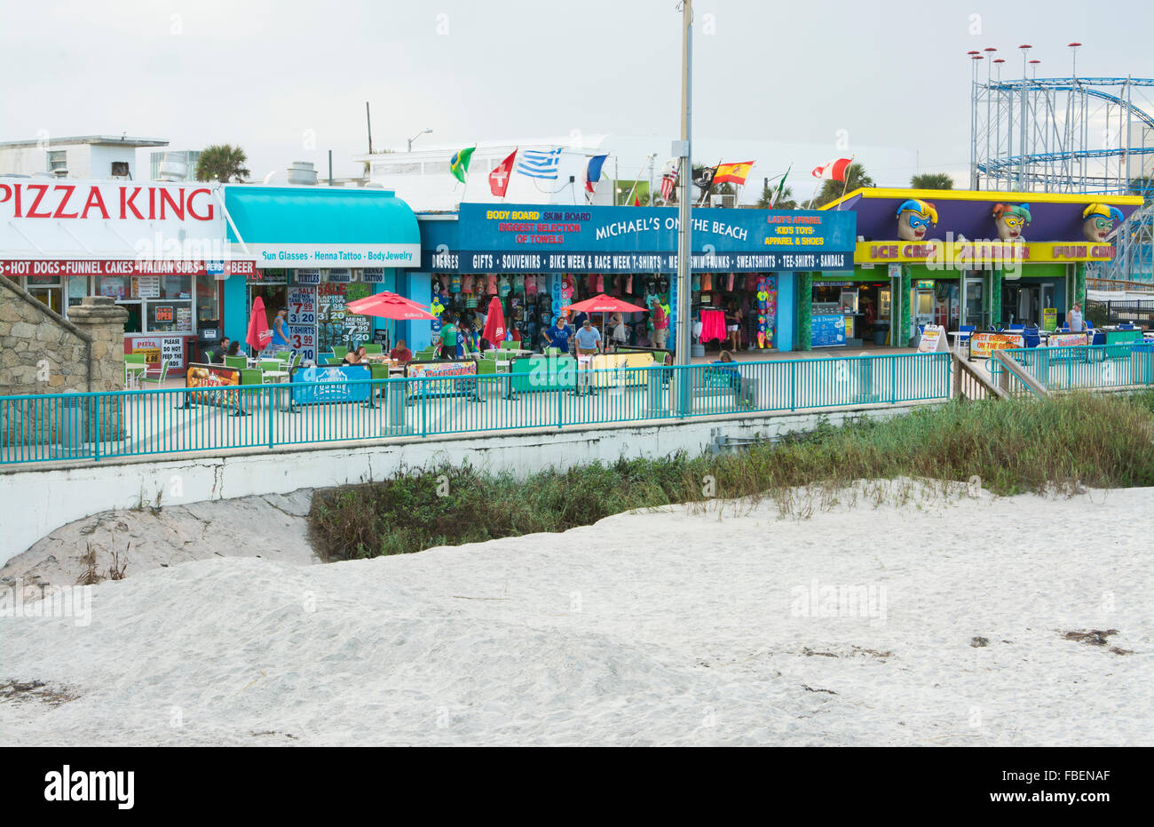 Daytona Beach Florida Famous Boardwalk With Stores