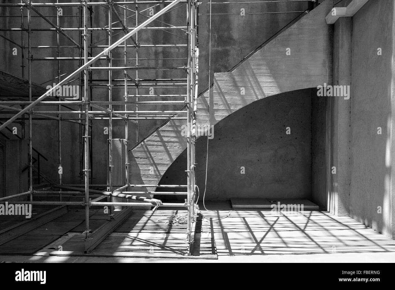 Scaffolding On Building - Stock Image