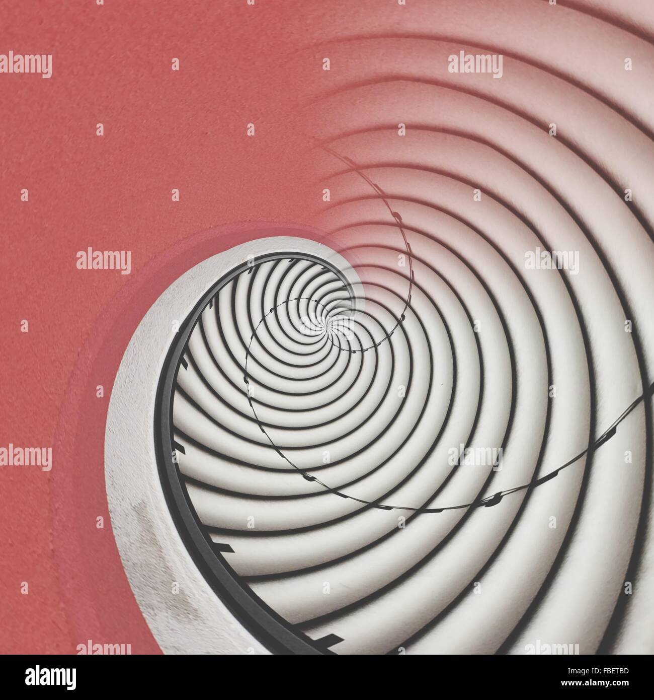 Digital Composite Of Spiral Staircases - Stock Image