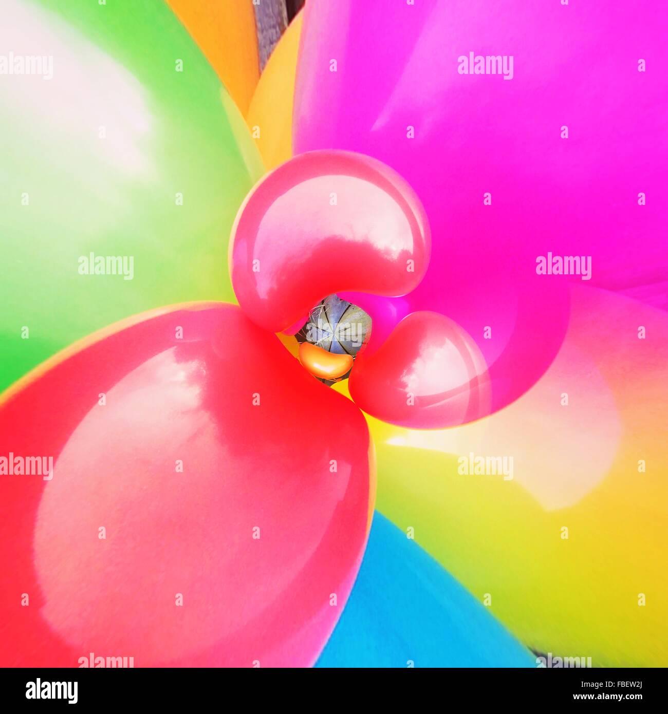 Full Frame Shot Of Multi Colored Balloons - Stock Image