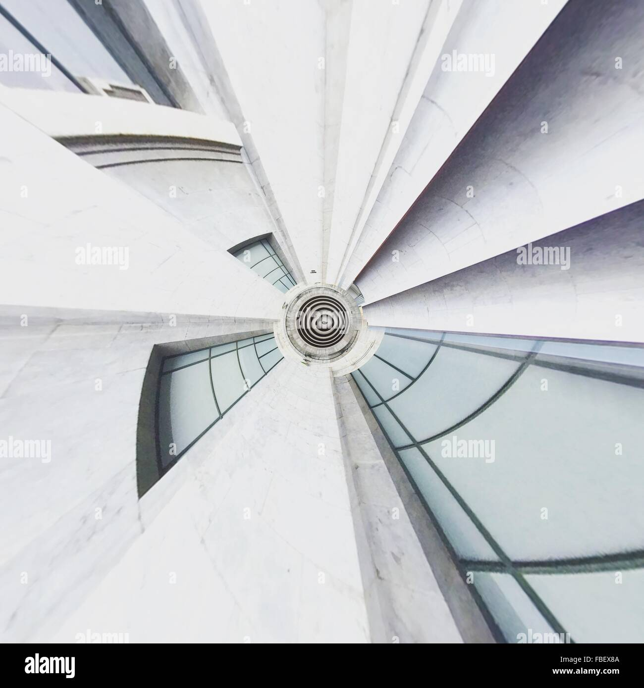 Digital Composite Image Of Modern Building - Stock Image