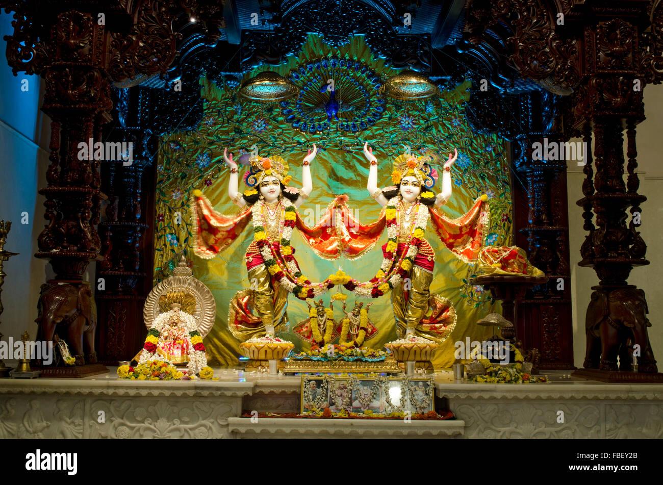 Radha Krishna Statue Stock Photos & Radha Krishna Statue