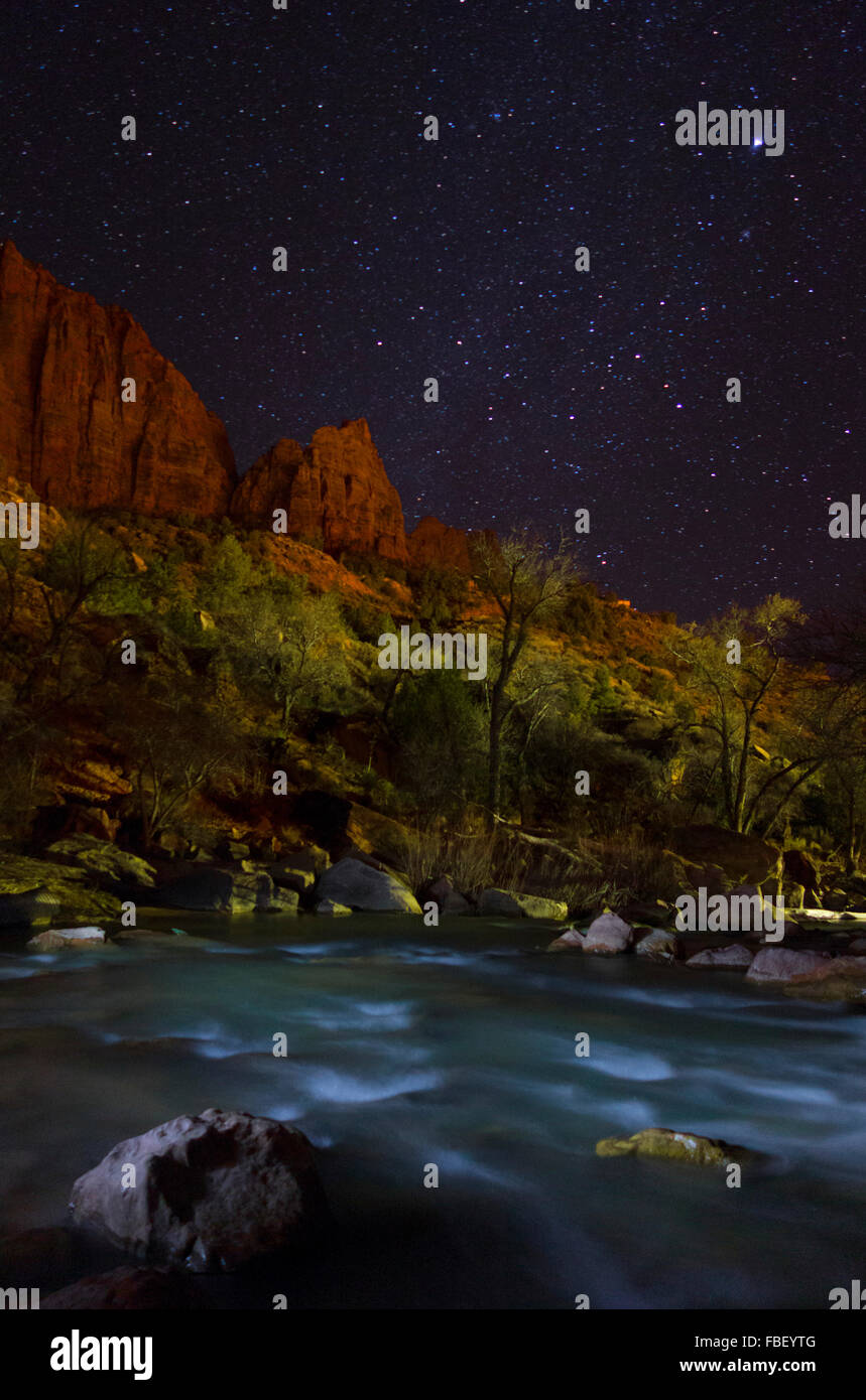 The watchman and the stars - Stock Image