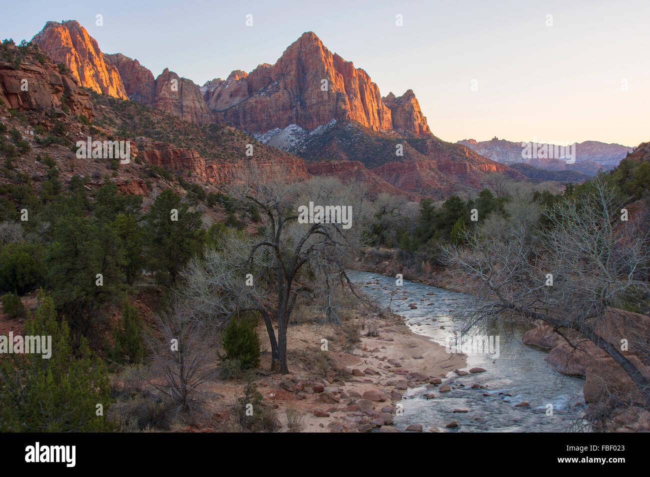 The Watchman, Zion National Park, Utah - Stock Image