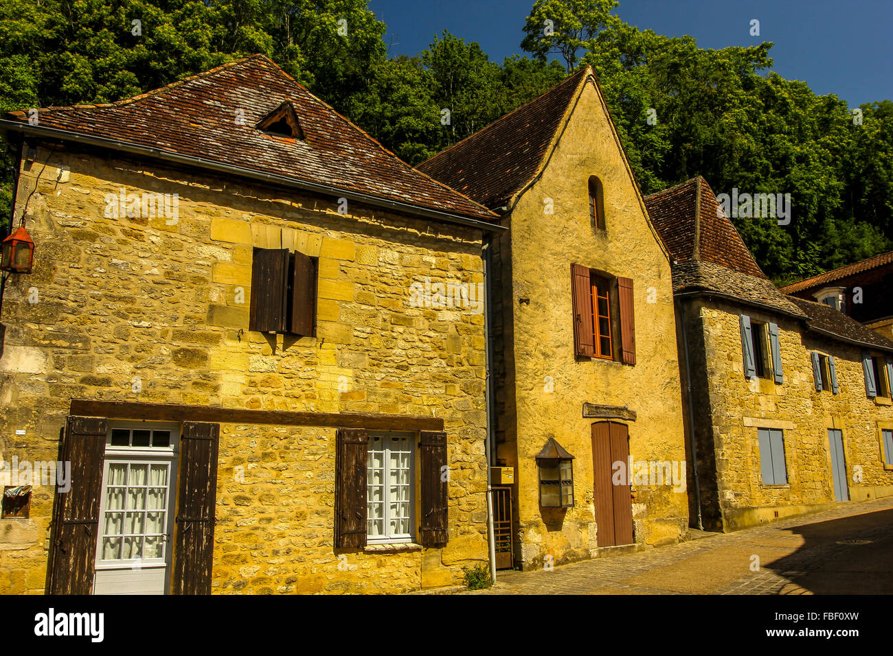 Small town in Dordogne France - Stock Image