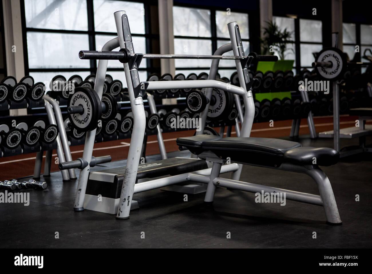 Weightlifting machine - Stock Image