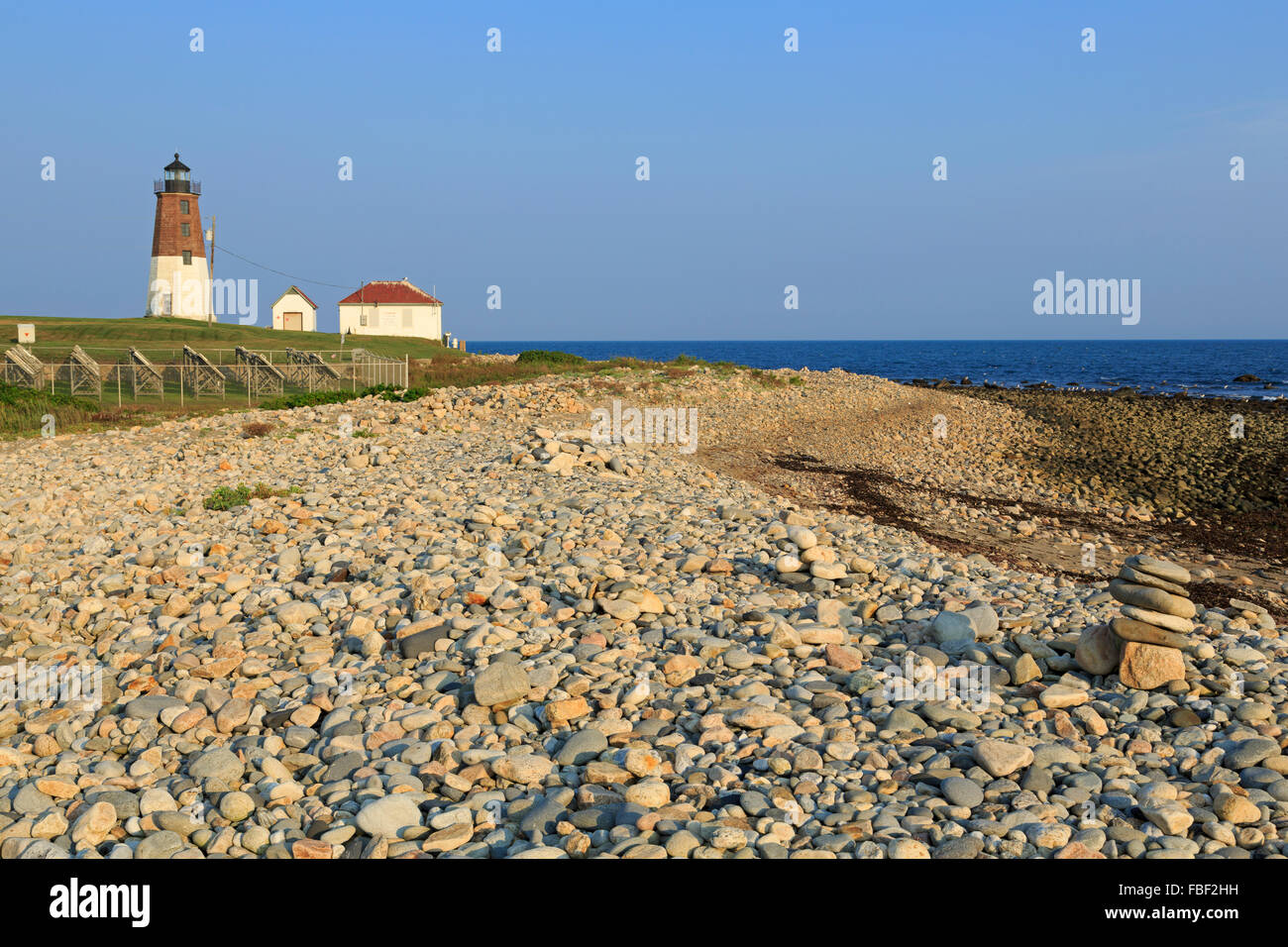 Point Judith Lighthouse, Rhode Island, USA - Stock Image