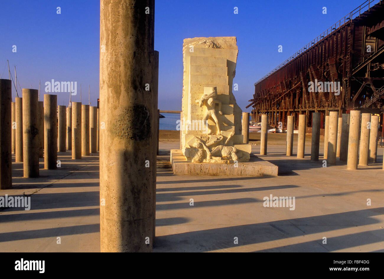 Monument to the 142 victims of the Holocaust (Mauthausen). Almeria. Andalucia, Spain - Stock Image