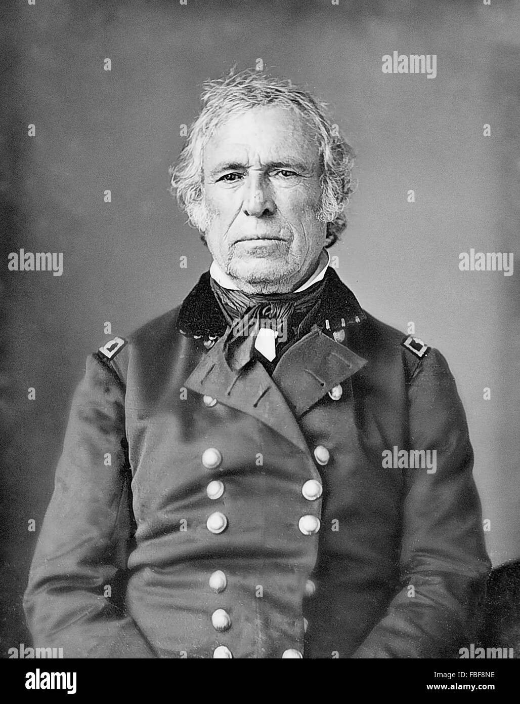 Zachary Taylor. Daguerrotype of the 12th US President , c 1843-5 - Stock Image