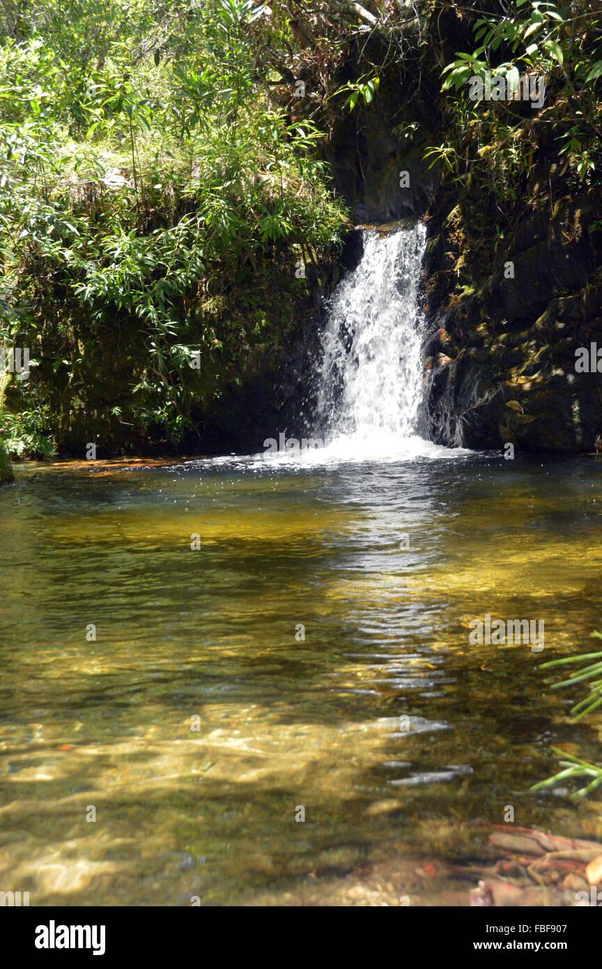 Water fall at Alto Paraiso de Goias chapada dos veadeiros Goias state, Brazil - Stock Image