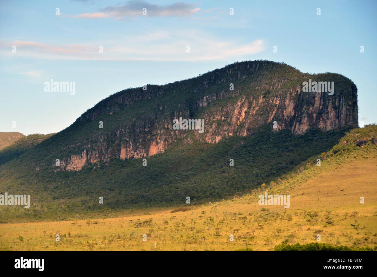 Baleia mountain or whale mountain at chapada dos veadeiros Goias Brazil - Stock Image