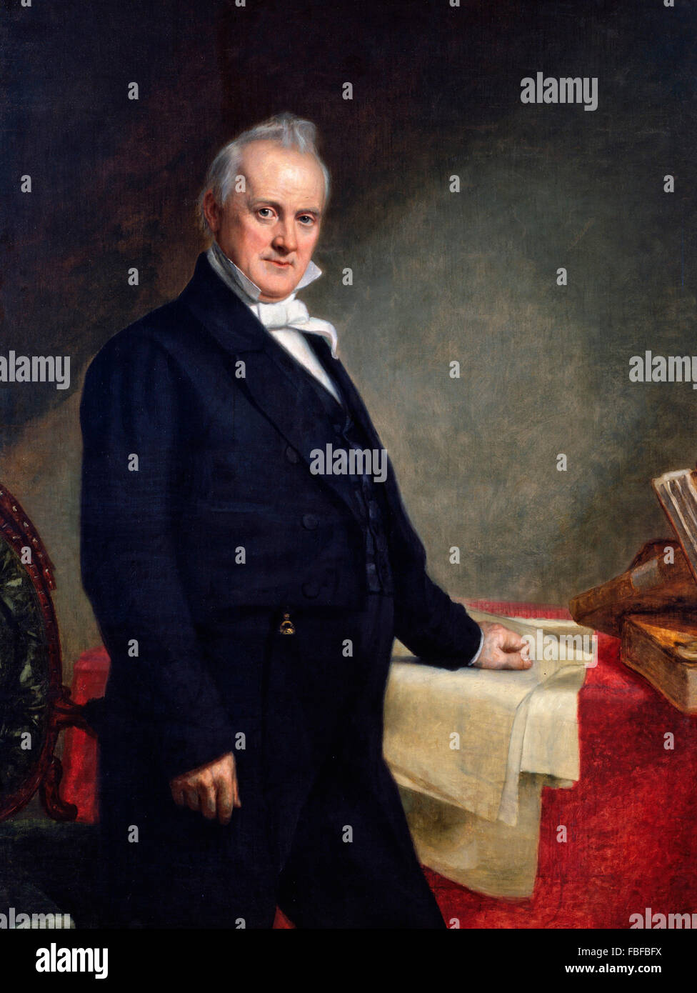 James Buchanan. Portrait of the 15th US President by George Peter Alexander Healy, 1859 - Stock Image