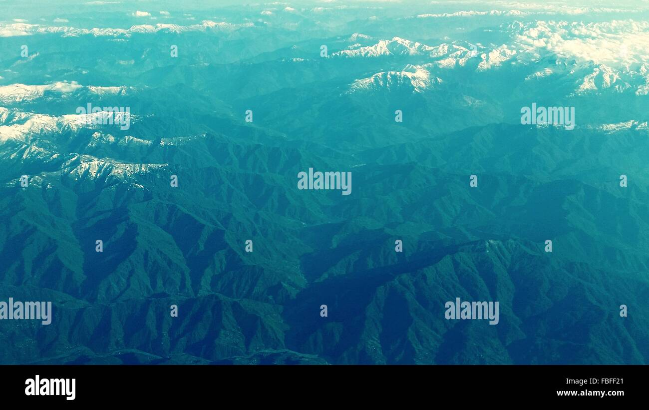 Arial View Of Rocky Mountains - Stock Image