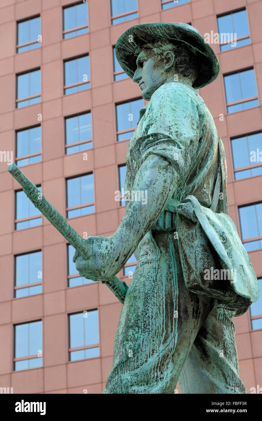 Spanish American War Monument, Kennedy Plaza, Providence, Rhode Island, USA - Stock Image