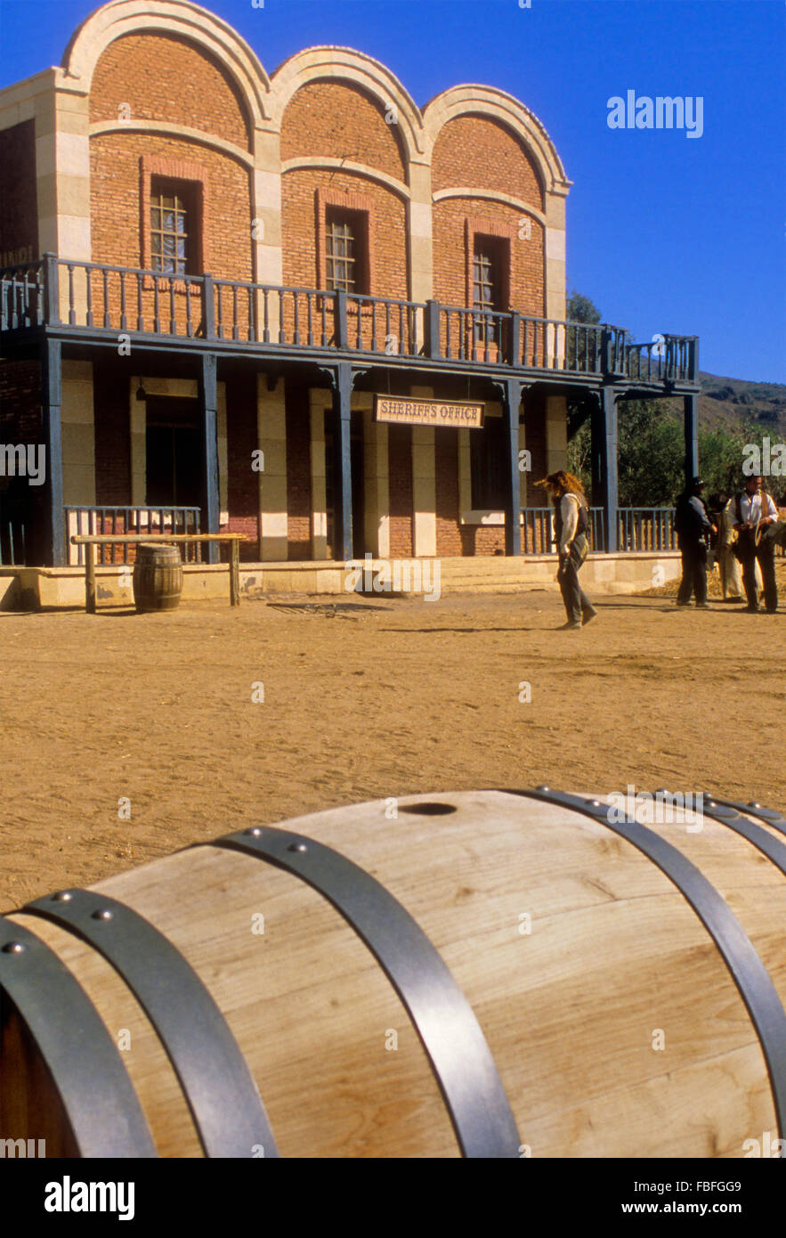 Desert of Tabernas.Film set of at Mini Hollywood. Almeria province, Andalucia, Spain Stock Photo