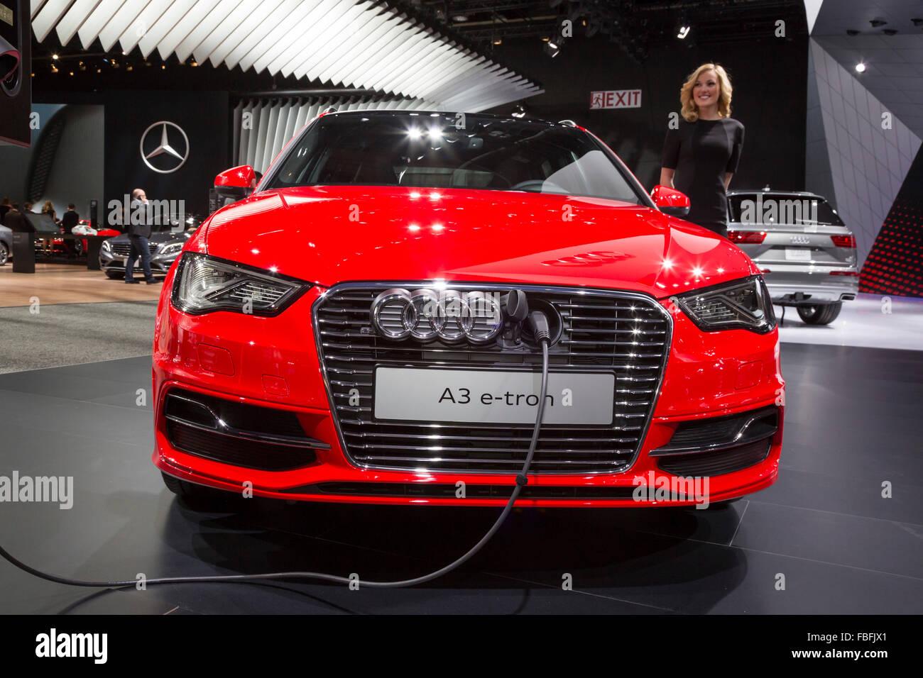 Detroit Michigan The Audi A3 E Tron Plug In Hybrid Electric Car