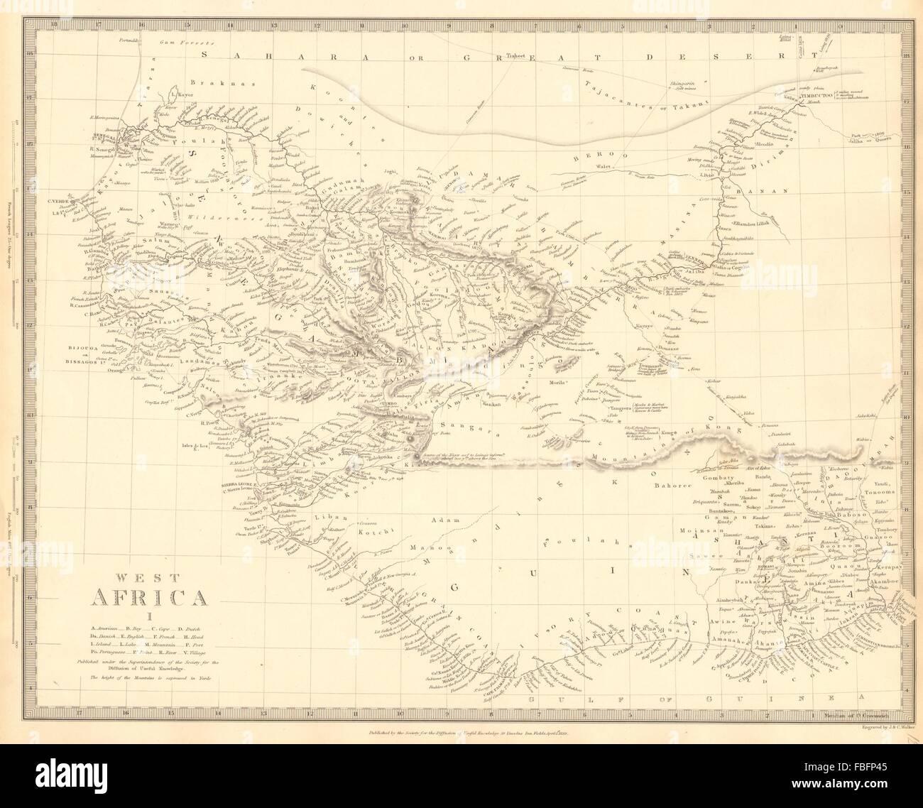 Gambia West Africa Map.West Africa Senegal Gambia Guinea Ashanti Ivory Gold Grain