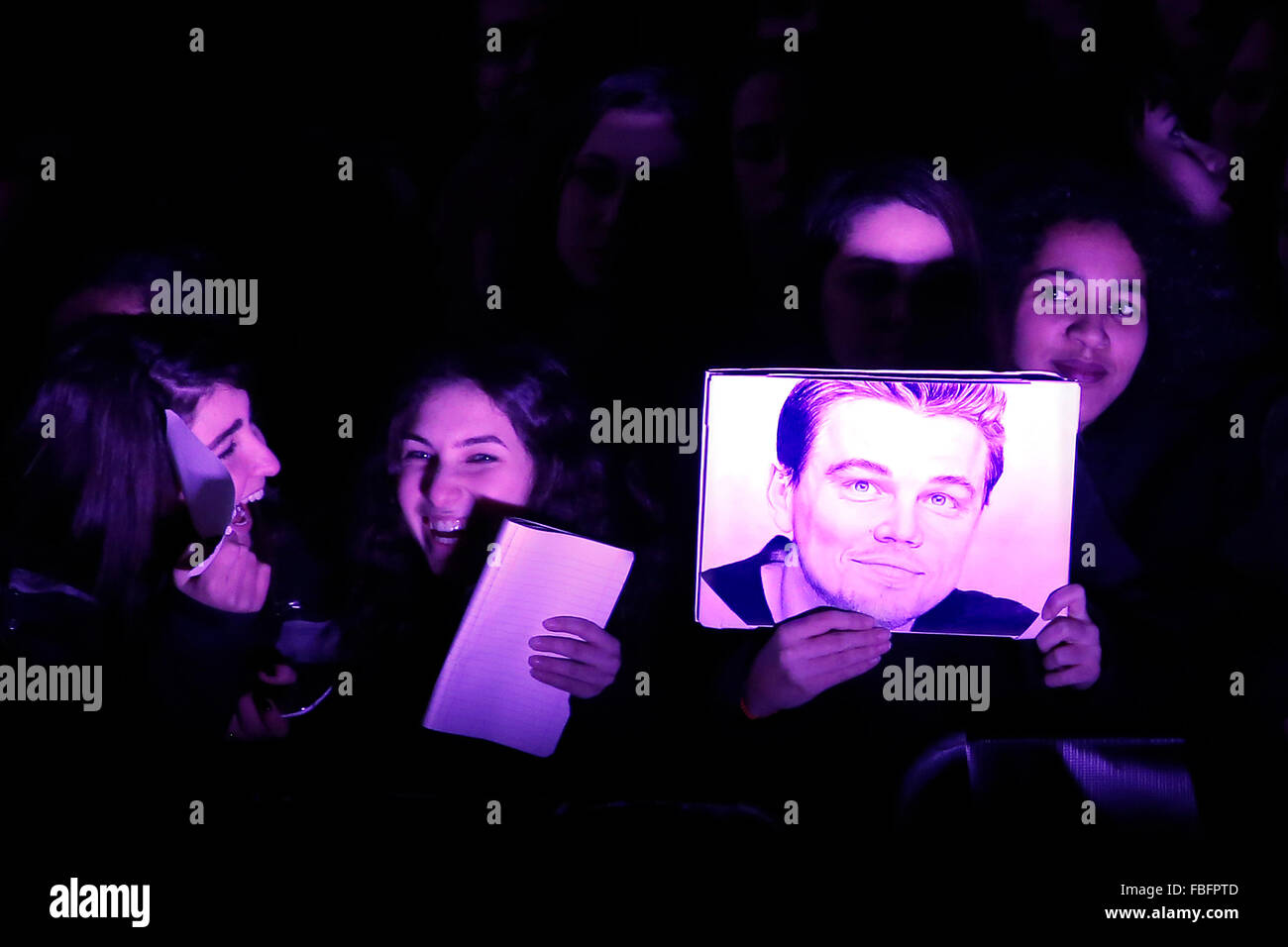 Rome, Italy. 15th Jan, 2016. Fans, Casa del Cinema. Redivivo Anteprima. Revenant Red Carpet Premiere. Credit:  Insidefoto/Alamy - Stock Image
