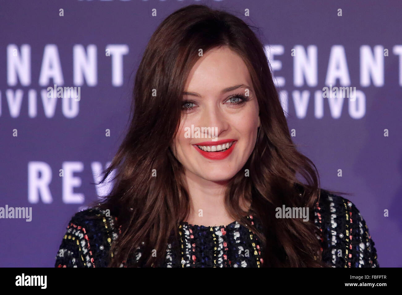 Rome, Italy. 15th Jan, 2016. Carolina Crescentini, Casa del Cinema. Redivivo Anteprima. Revenant Red Carpet Premiere. - Stock Image