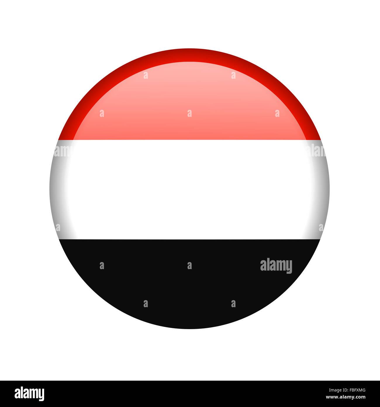 The Yemeni flag - Stock Image