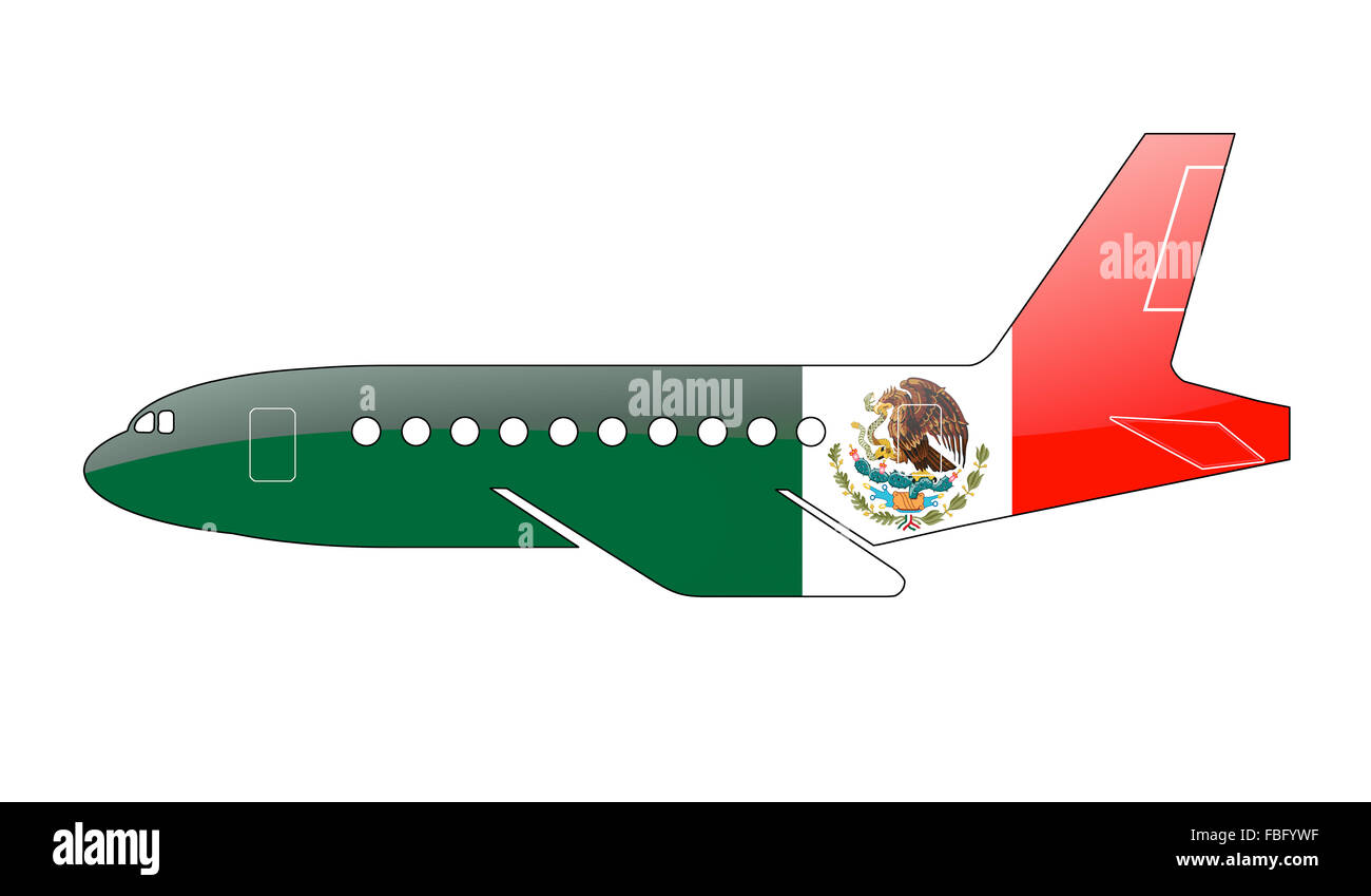 The Mexican flag - Stock Image