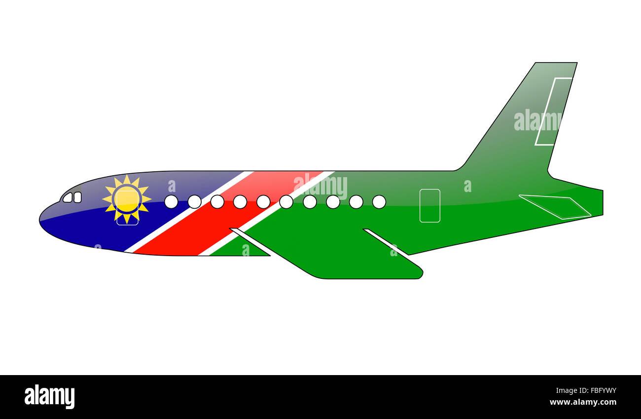 The Namibia flag - Stock Image