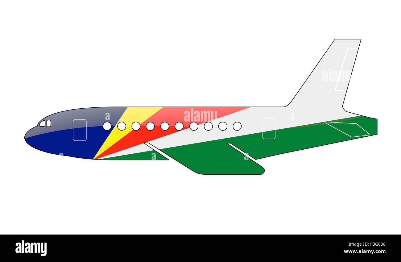 The Seychelles flag - Stock Image