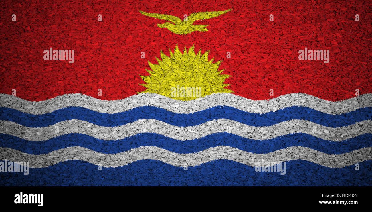 The Kiribati flag - Stock Image