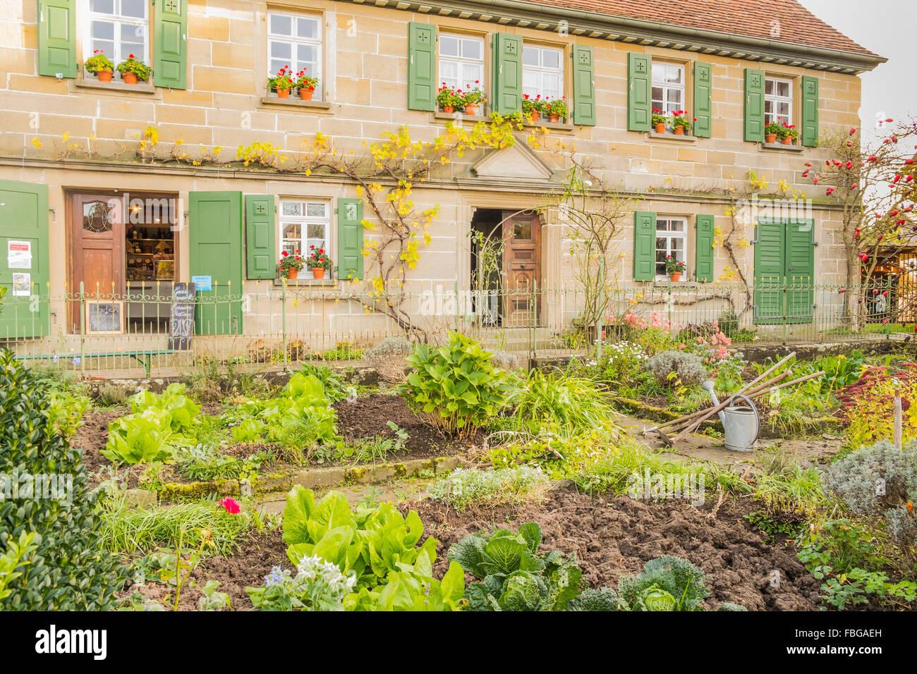 historic village shop, open-air museum, wackershofen, schwaebisch hall, baden-wuerttemberg, germany - Stock Image