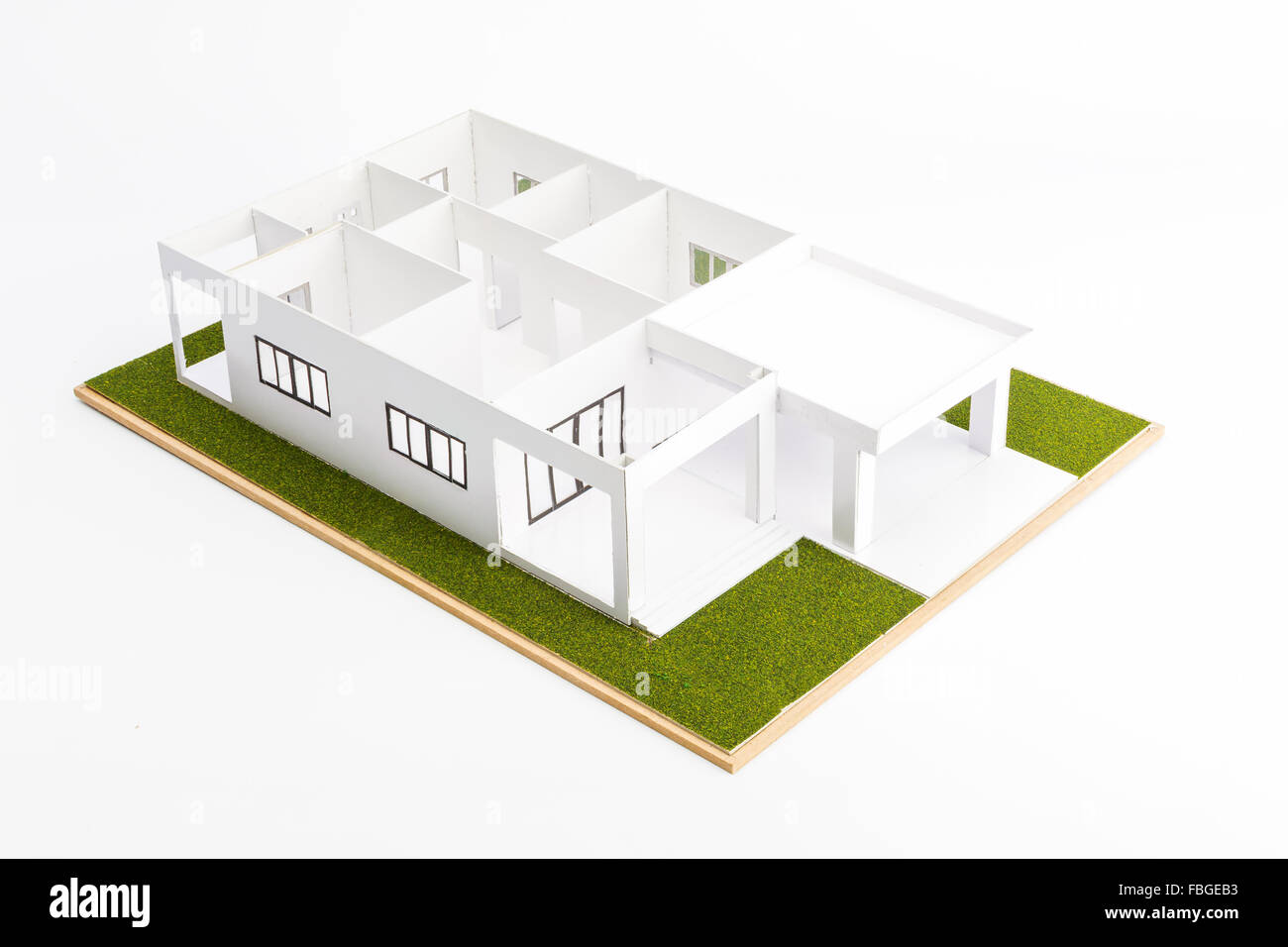 Architecture models on show inside. - Stock Image