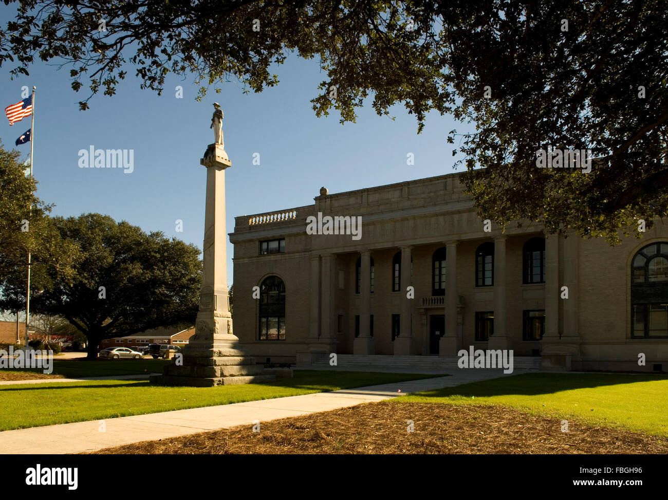 Lee County Courthouse Bishopville South Carolina USA - Stock Image