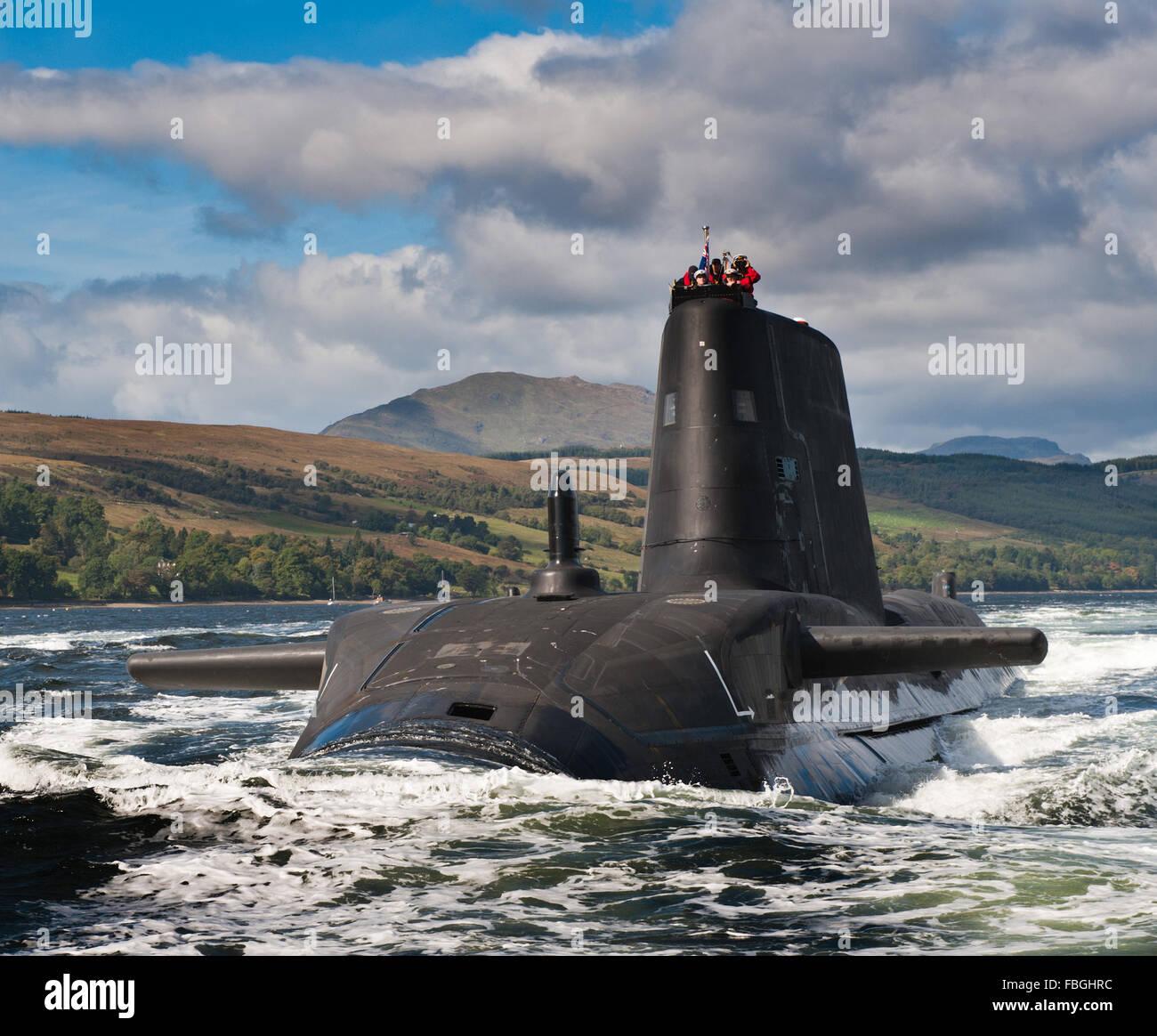 Royal Navy submarine HMS Astute - Stock Image
