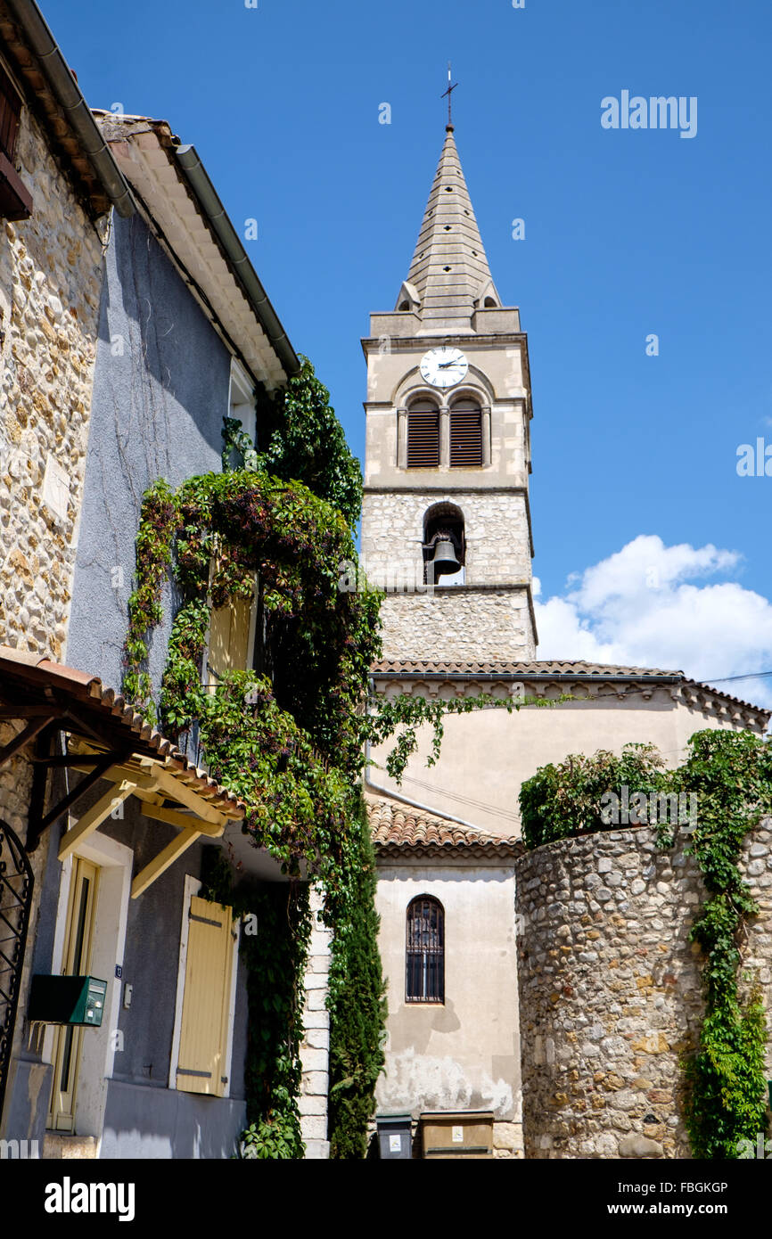 Village Of Vallon Pont D Arc In The Ardeche France Stock