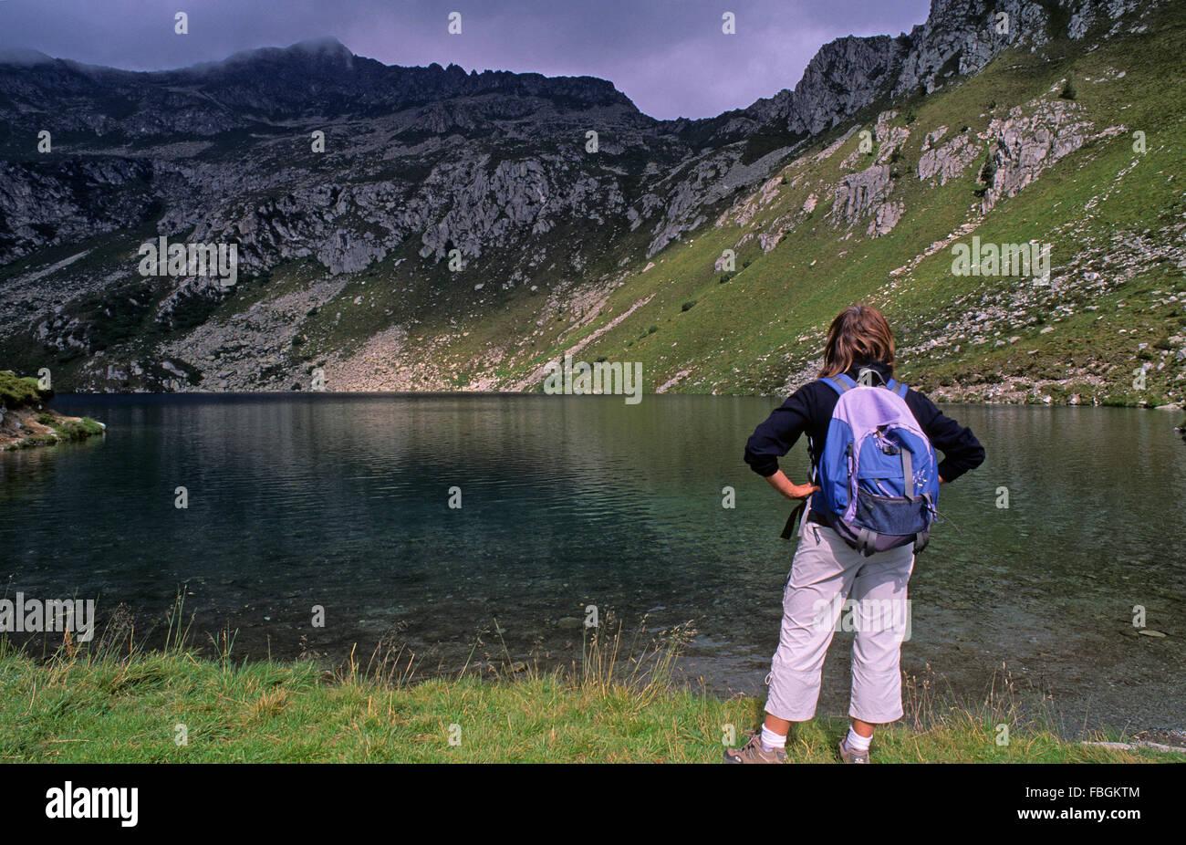 Lake Ritorto, Adamello Brenta Natural Park,  Madonna di Campiglio, Trentino, Italy - Stock Image