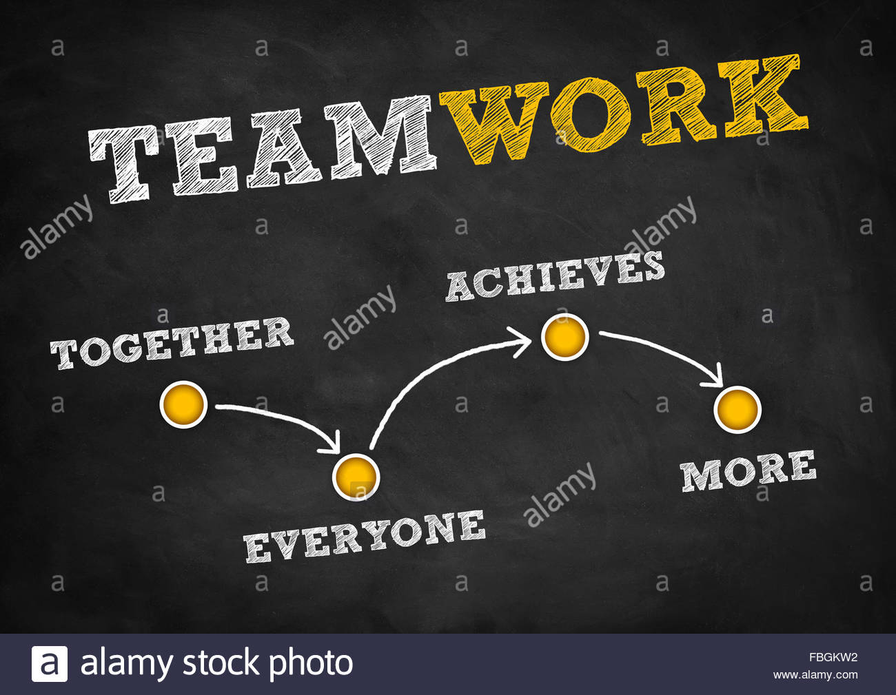 Teamwork - strategy concept - Stock Image
