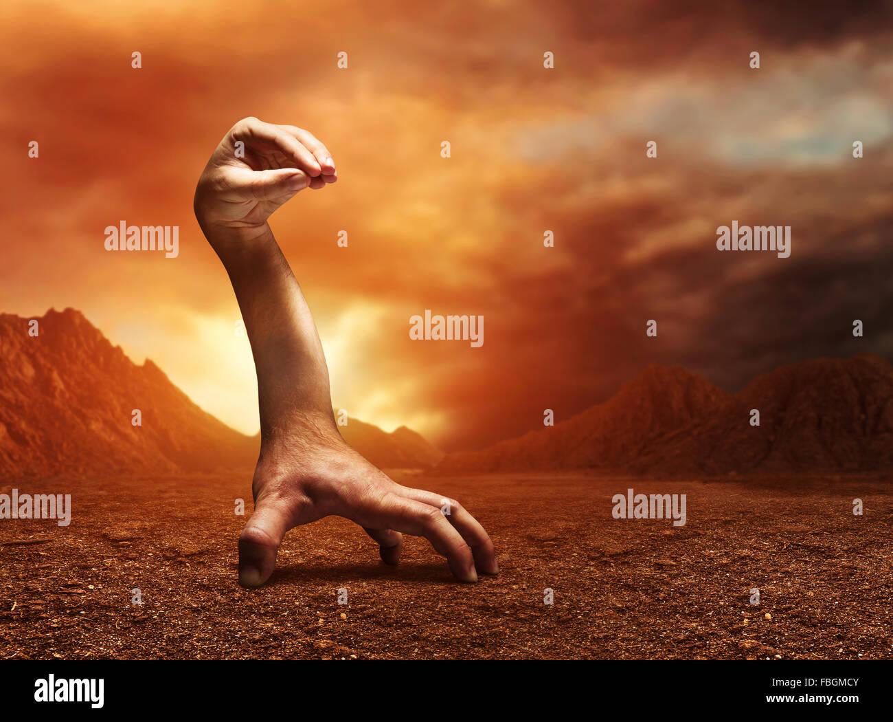 Strange human hand - Stock Image