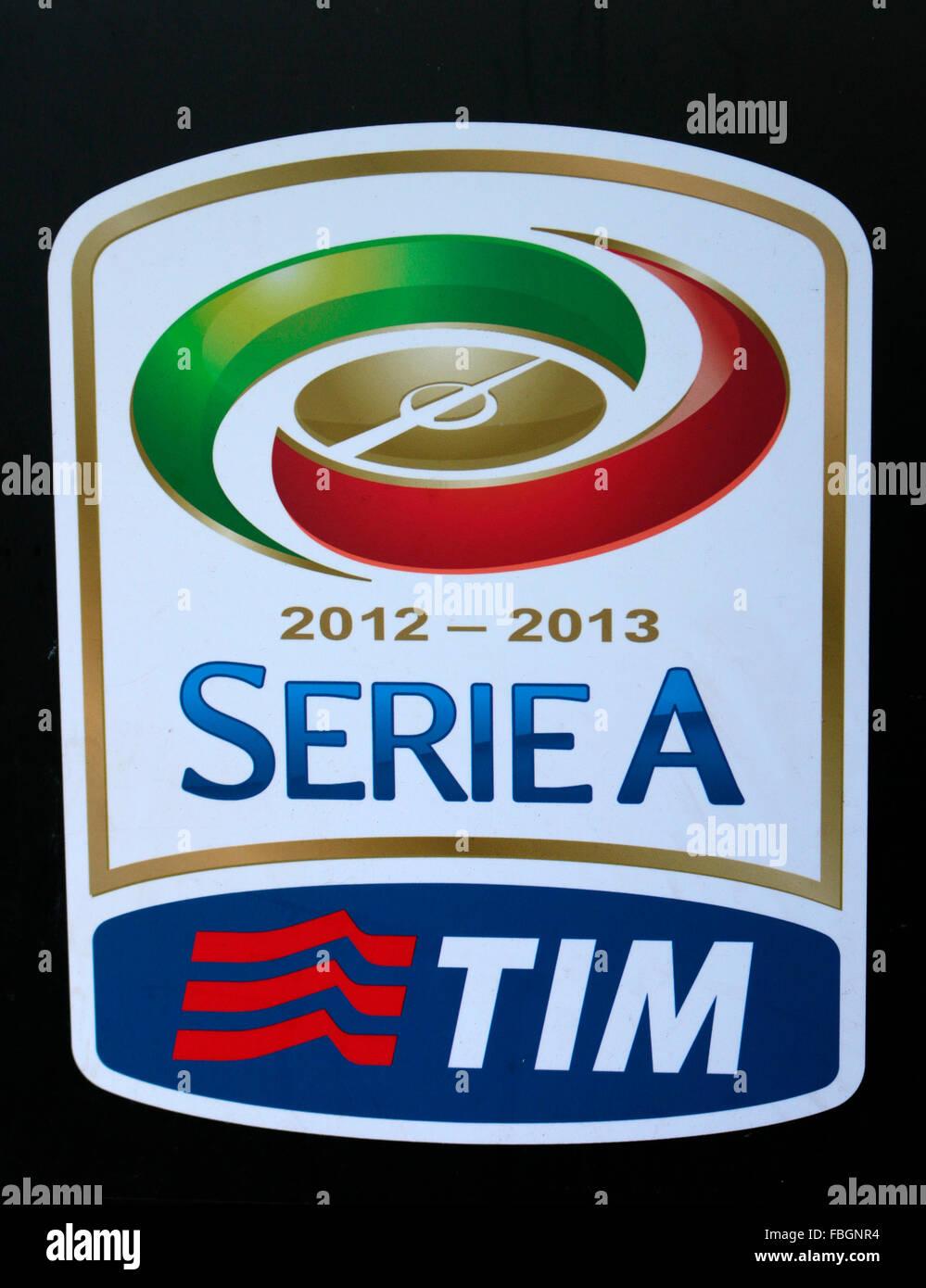 das Logo der Marke 'Serie A', Berlin. - Stock Image