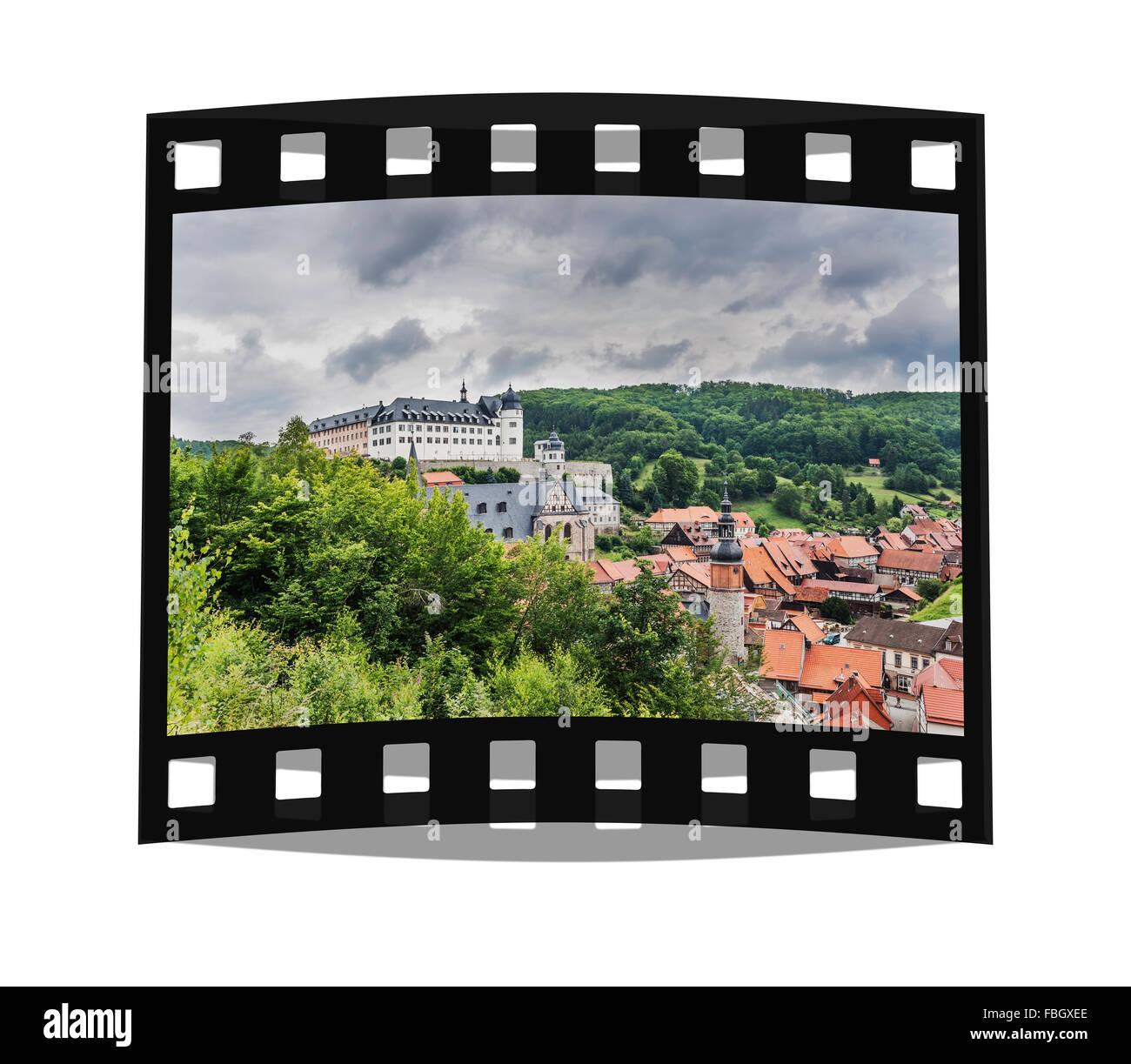 Castle Stolberg/Harz, municipality Suedharz, Mansfeld-Suedharz, Saxony-Anhalt, Germany, Europe - Stock Image