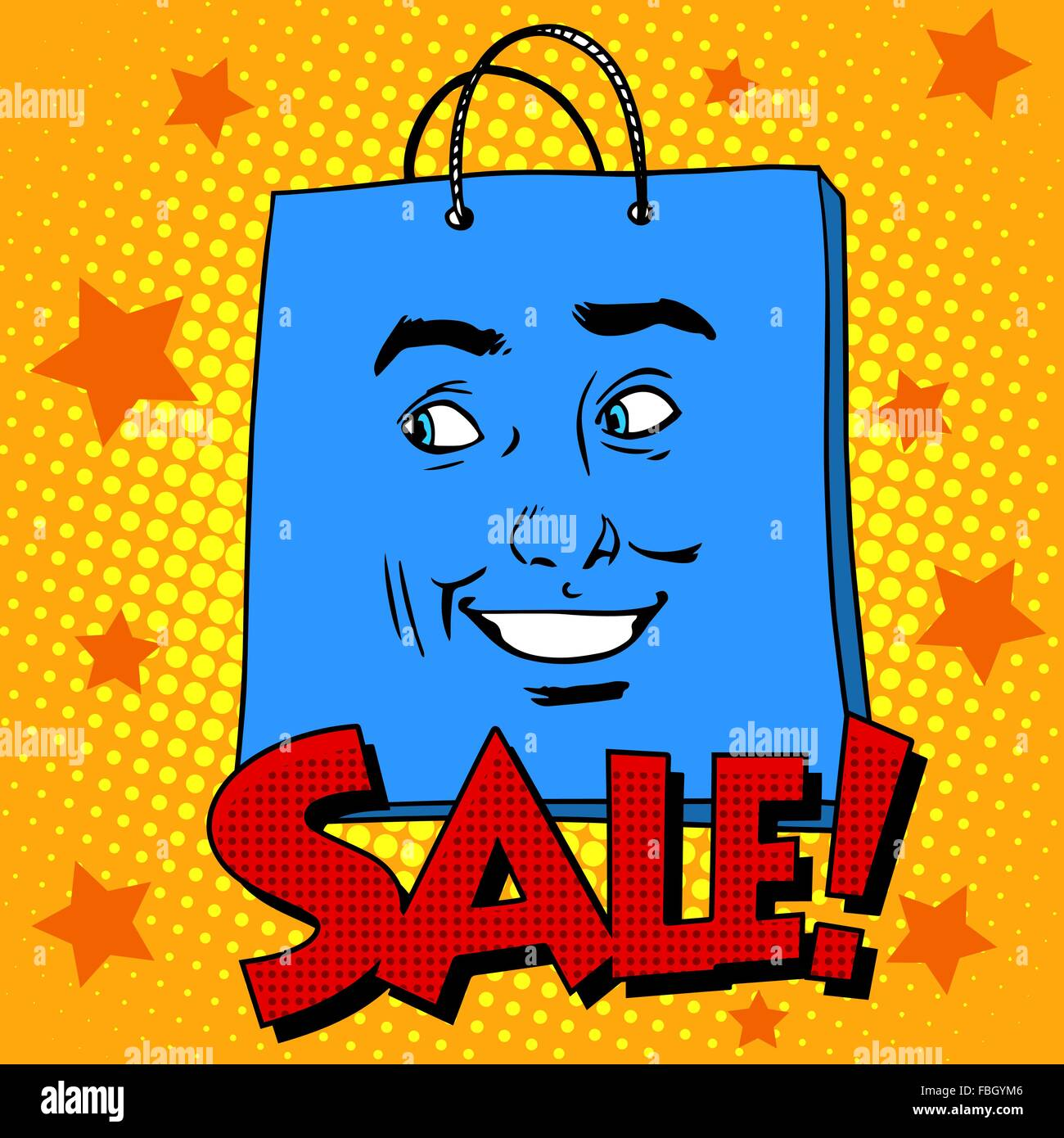 Gift pack face sale - Stock Vector