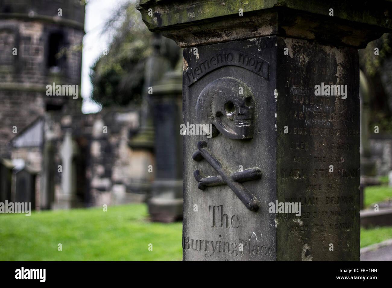 Grave Marker - Stock Image