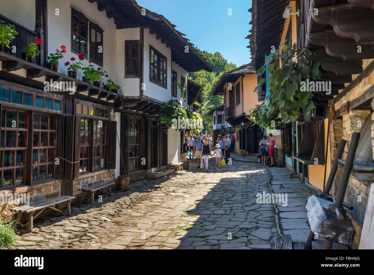 Etar Architectural Ethnographic Complex (Etara), open-air museum in Gabrovo, Bulgaria - Stock Image