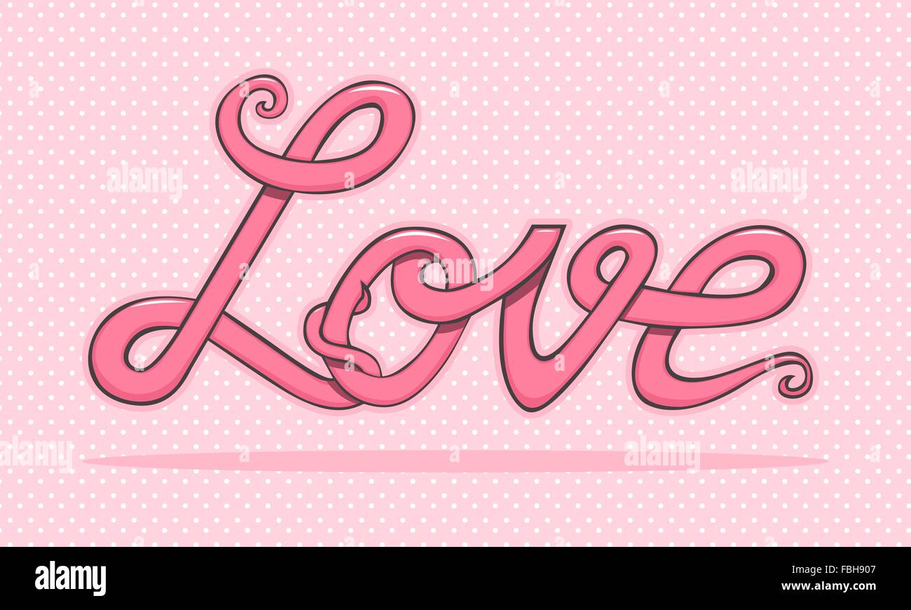 the word love on polka dot background stock vector image art alamy alamy