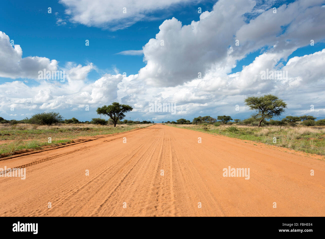 Unsealed road to Namib Naukluft Park, Solitaire, Namib Desert, Republic of Namibia - Stock Image