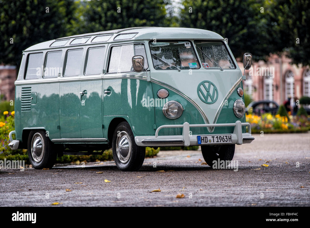 Schwetzingen, Baden-Württemberg, Germany, VW T1, year of manufacture 1963, Concours d'Elégance in - Stock Image
