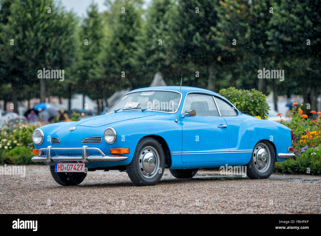 Schwetzingen, Baden-Württemberg, Germany, VW Karmann-Ghia type 14 Coupe, Concours d'Elégance in the - Stock Image