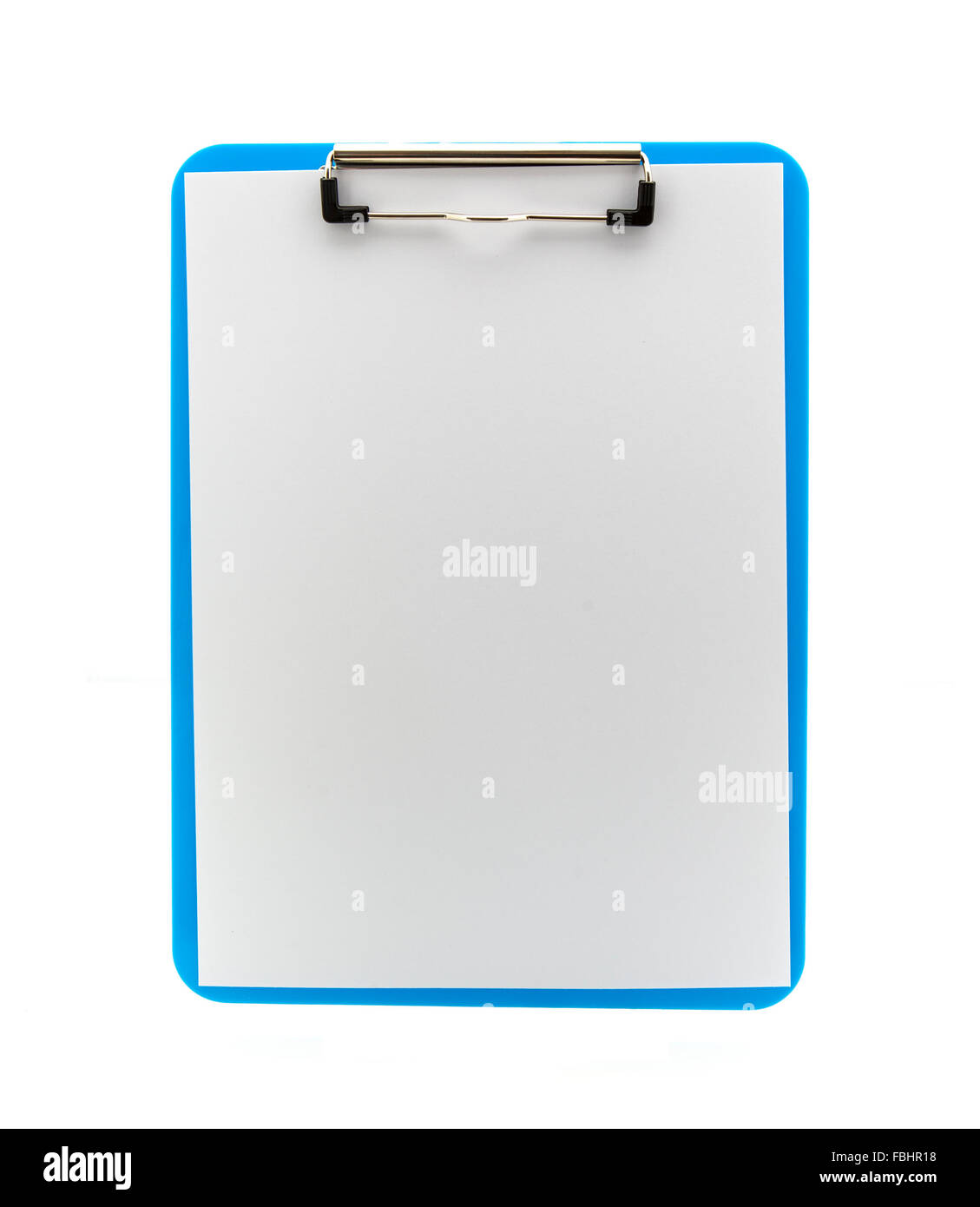 Blue Clipboard on a white background - Stock Image