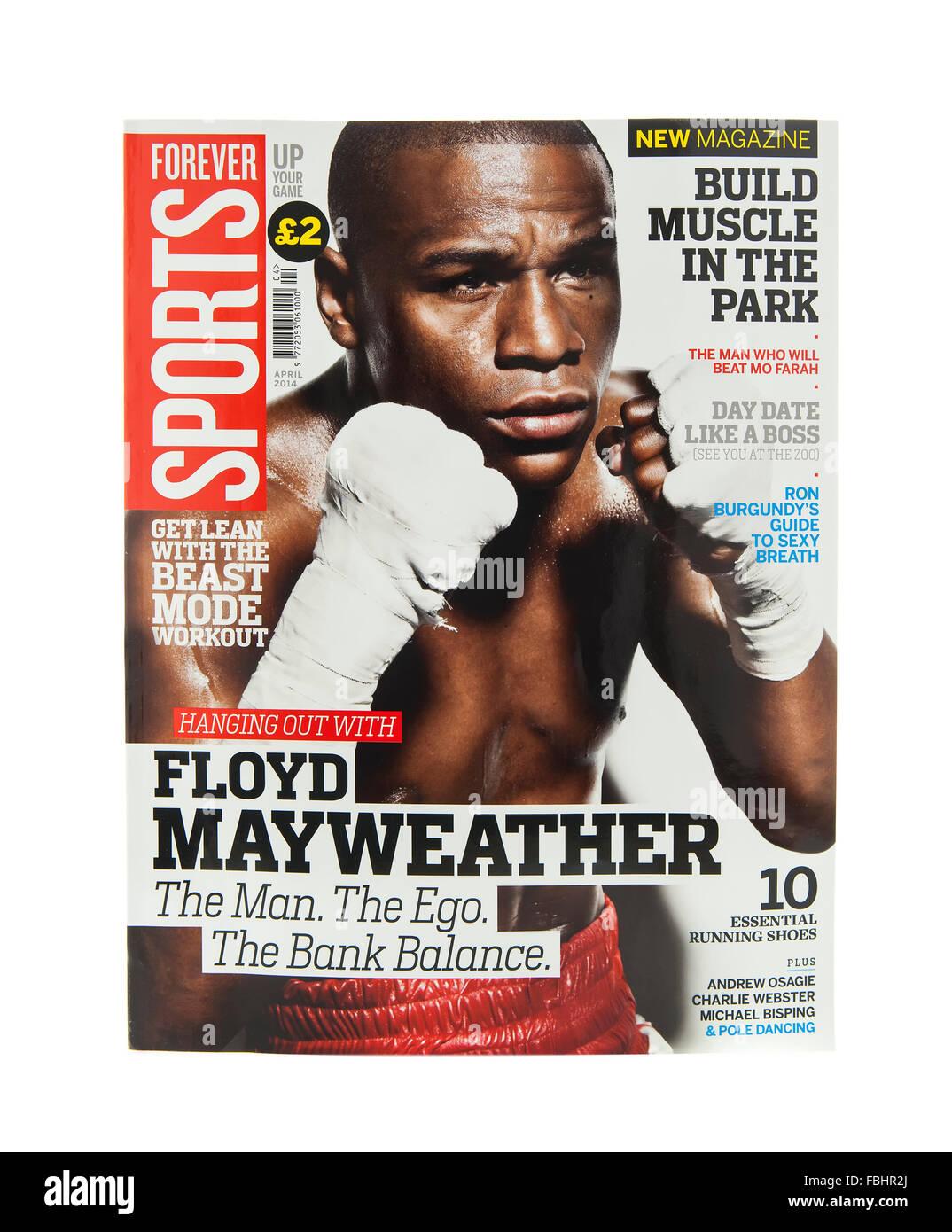 Forever Sports Magazine on a white background - Stock Image