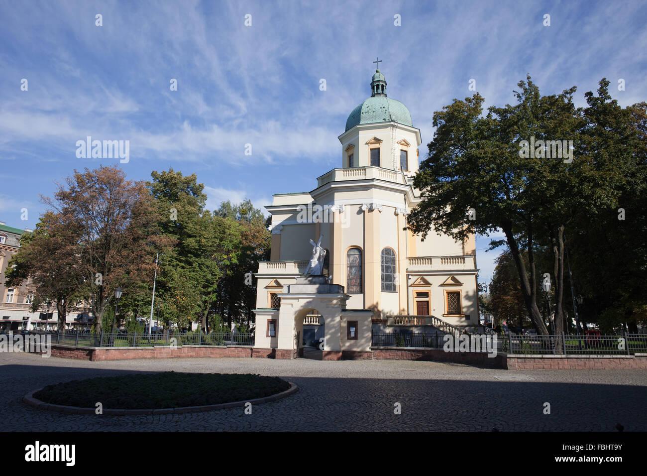 St. Stanislaus Garrison Church in Radom, Poland - Stock Image