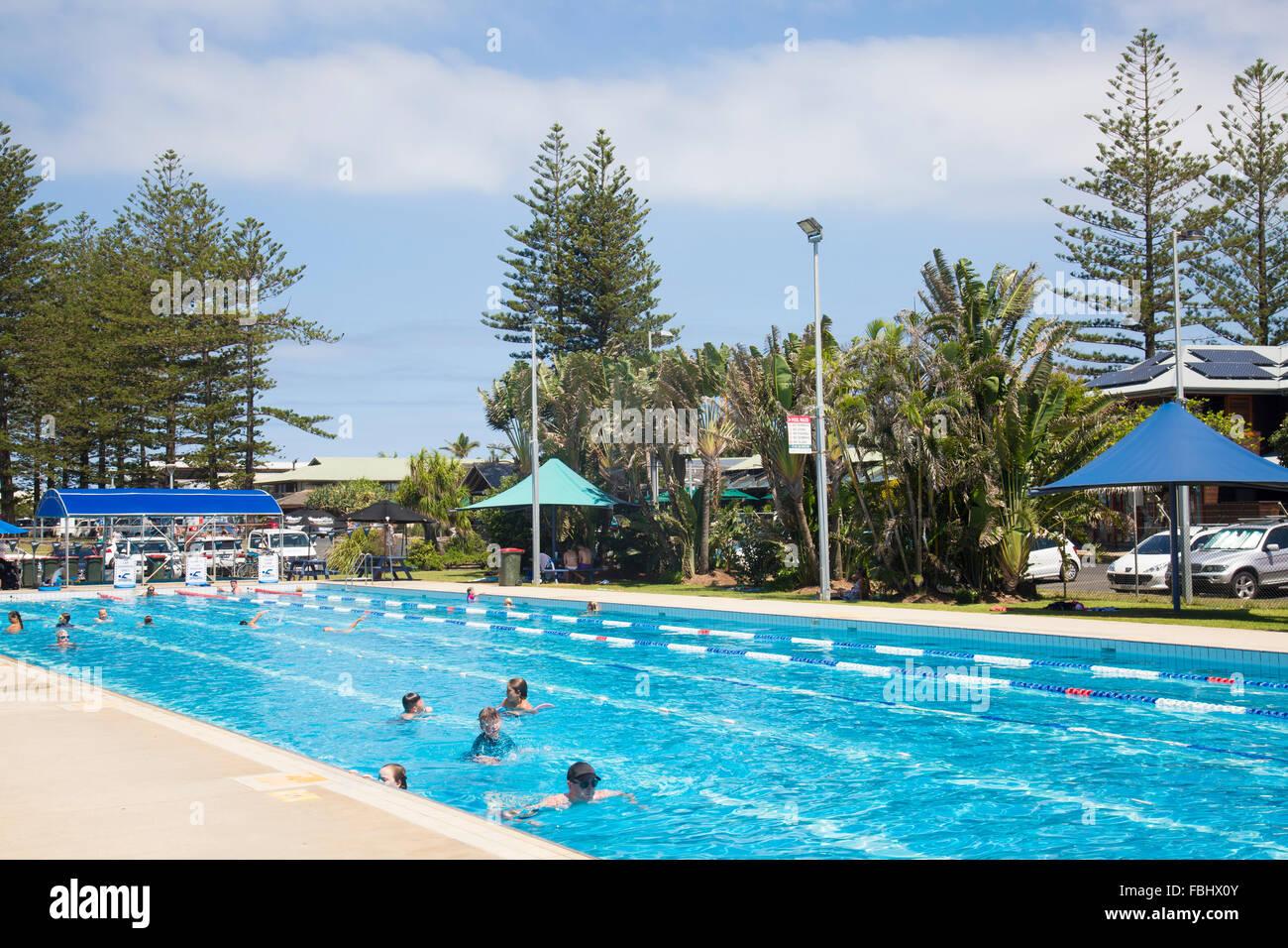 Byron Bay Public Open Air Olympic Size Swimming Pool Near Main Stock Photo 93206651 Alamy
