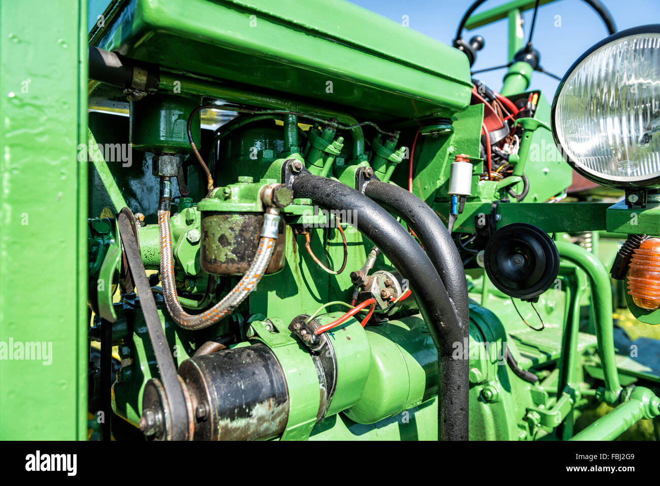Tractor, Bautz AS 120, year of manufacture 1954, total weight 1600, cubic capacity 1249 cubic centimetres, 2 cylinders, Stock Photo